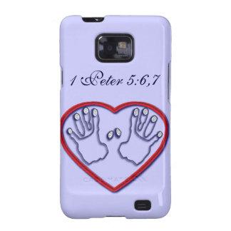 Huellas dactilares de dios - 1 5:6 de Peter - 7 Samsung Galaxy SII Funda