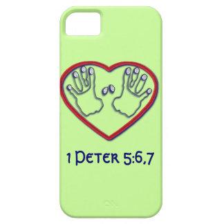 Huellas dactilares de dios - 1 5:6 de Peter - 7 iPhone 5 Funda