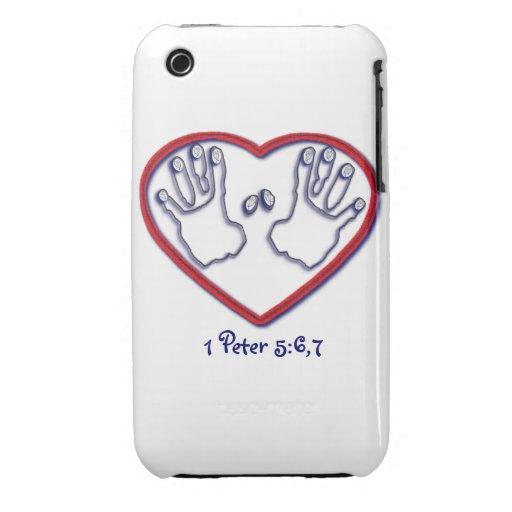 Huellas dactilares de dios - 1 5:6 de Peter - 7 iPhone 3 Case-Mate Protector