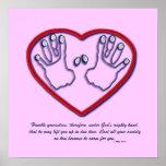 Huellas dactilares de dios - 1 5:6 de Peter - 7 Poster