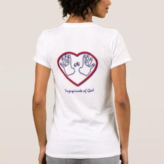 Huellas dactilares de dios - 1 5:6 de Peter - 7 Camiseta