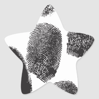 Huellas dactilares calcomania forma de estrella