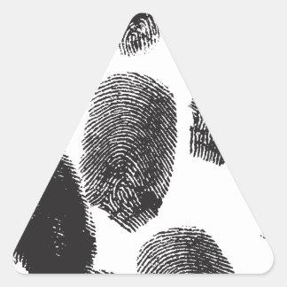 Huellas dactilares calcomanías trianguladas