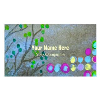 Huellas dactilares y ramitas tarjetas de visita
