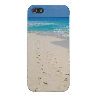 huellas de la playa iPhone 5 carcasas