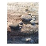 Huellas de la roca tarjetas postales