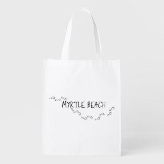 Huellas de Myrtle Beach Bolsa De La Compra