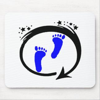 Huellas del bebé azul alfombrillas de ratones