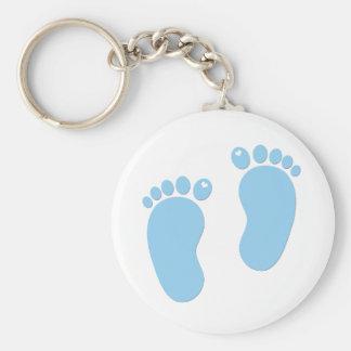 Huellas del bebé. Es un muchacho Llaveros Personalizados