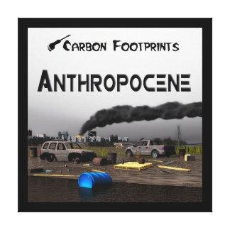 Huellas del carbono - Anthropocene Lona Envuelta Para Galerias