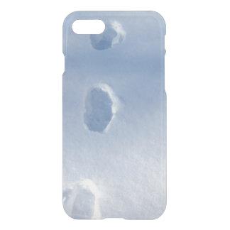 Huellas del invierno en la nieve funda para iPhone 7