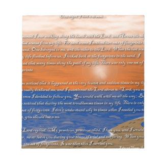 Huellas en el poema de la arena bloc de notas
