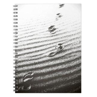 huellas en la arena - cuaderno