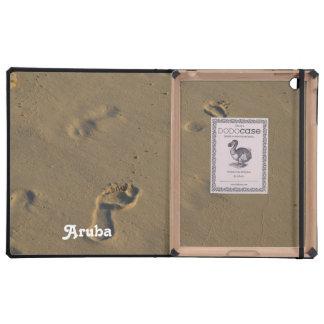 Huellas en la arena iPad funda