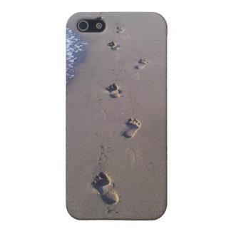 Huellas en la arena iPhone 5 funda