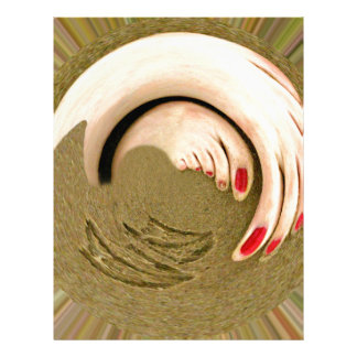 Huellas en la arena plantillas de membrete
