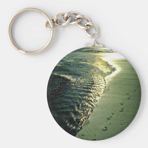 Huellas en la arena, Piha, isla del norte Llavero