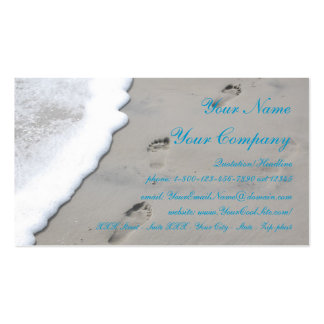 Huellas en la arena - plantilla de la tarjeta de v tarjetas de visita