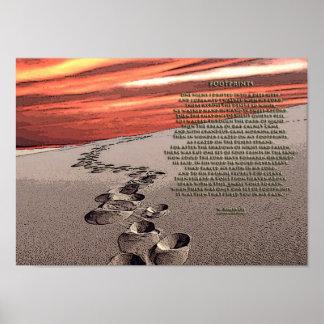 Huellas en la arena póster