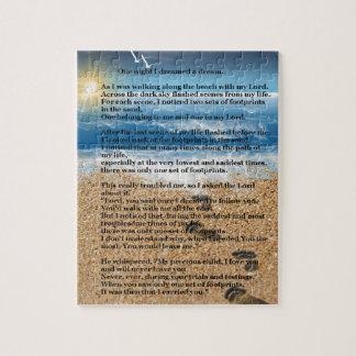 Huellas en la arena puzzles con fotos
