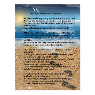 Huellas en la arena tarjetas postales
