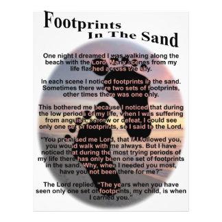 Huellas en la arena tarjetones