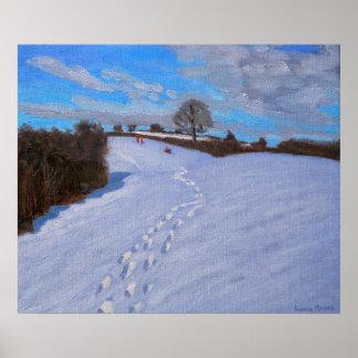 Huellas en la nieve 2009 póster