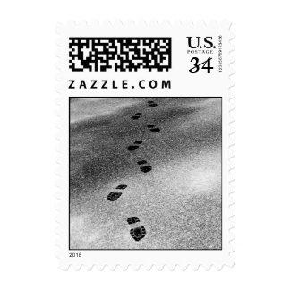 Huellas en la nieve - pequeño sello