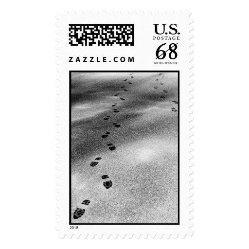 Huellas en la nieve - sello grande