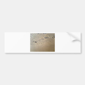 huellas en la playa pegatina de parachoque