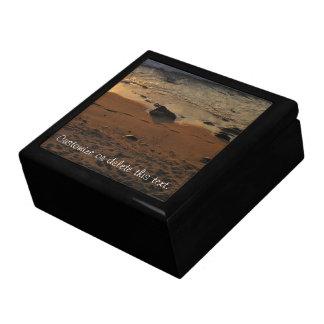 Huellas en la playa; Personalizable Caja De Recuerdo
