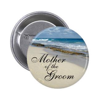 huellas en los botones de la arena pin redondo de 2 pulgadas