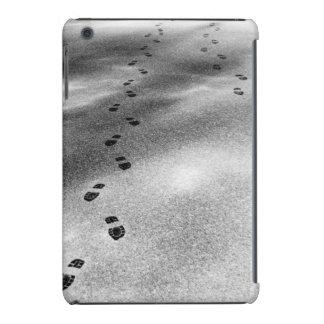 Huellas en nieve funda de iPad mini