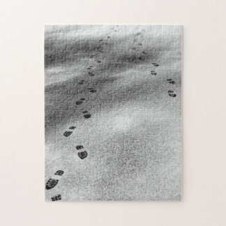 Huellas en nieve puzzles con fotos