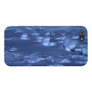 Huellas en South Pole iPhone 5 Carcasa