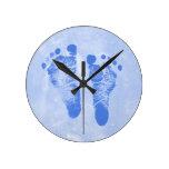 Huellas lindas del bebé reloj de pared