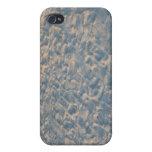 Huellas por todo la arena de la playa, rosa azul d iPhone 4/4S carcasas