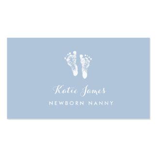 Huellas recién nacidas simples certificadas del tarjetas de visita