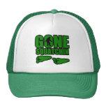 Huellas verdes idas de Squatchin Gorros Bordados