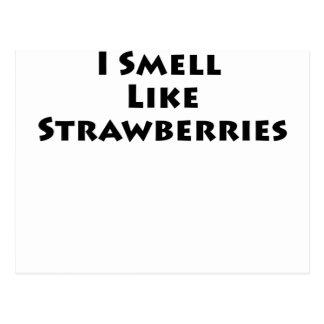 Huelo como las fresas tarjeta postal
