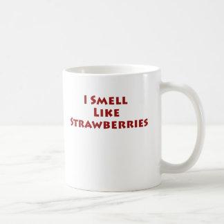 Huelo como las fresas tazas de café