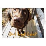 ¿Huelo la torta? Tarjeta de felicitación del labor