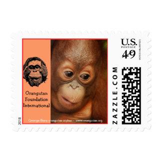 Huérfano del orangután de George Sello Postal
