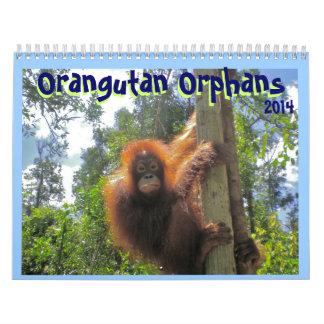 Huérfanos del orangután calendario