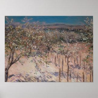 Huerta con el florecimiento de los manzanos, Colom Póster