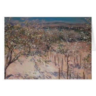 Huerta con el florecimiento de los manzanos, Colom Tarjeta De Felicitación
