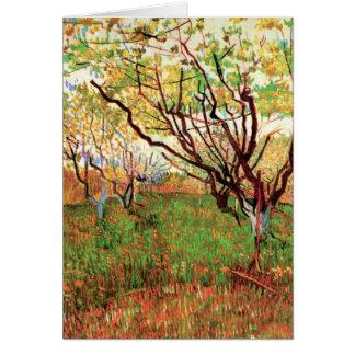 Huerta de Van Gogh en el flor, arte del paisaje Felicitación
