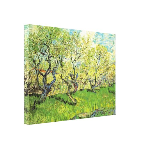 Huerta de Van Gogh en el flor, bella arte del