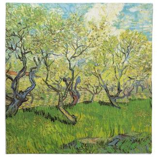 Huerta de Van Gogh en el flor, bella arte del Servilletas