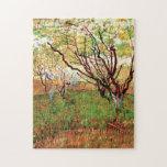 Huerta de Van Gogh en el flor, impresionismo del v Puzzle Con Fotos